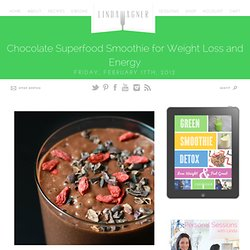 Chocolate Superfood Smoothie for Weight Loss and Energy