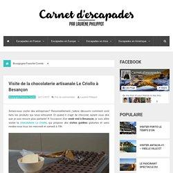 Visite de la chocolaterie artisanale Le Criollo à Besançon - Carnet d'escapades