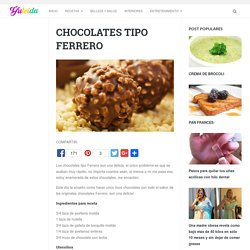 CHOCOLATES TIPO FERRERO - Yuleida