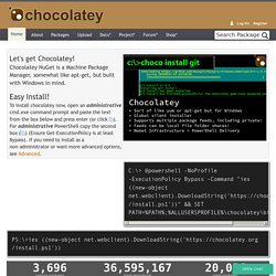 Chocolatey Gallery