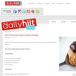DIY Chocolatey Peanut Butter Freeze