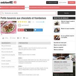 Petits bavarois aux chocolats et framboises