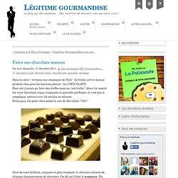 Faire ses chocolats maison