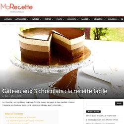 Gâteau aux 3 chocolats : la recette facile