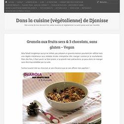 Granola aux fruits secs & 3 chocolats, sans gluten