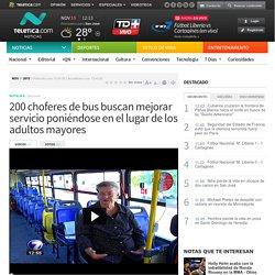 200 choferes de bus buscan mejorar servicio poniéndose en el lugar de los adultos mayores