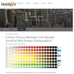 5 Color Choice Mistakes You Should Avoid in Web Design