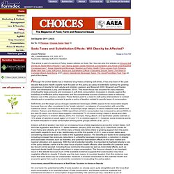 CHOICES - 2011 - Soda Taxes and Substitution Effects: Will Obesity be Affected?