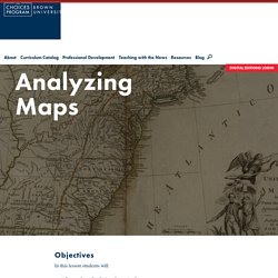 Analyzing Maps - The Choices Program