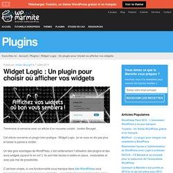 Widget Logic : Un plugin pour choisir où afficher vos widgets