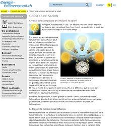 Choisir une ampoule en imitant le soleil – energie-environnement.ch