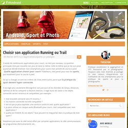 Choisir son application Running ou Trail