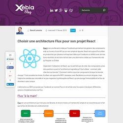 Choisir une architecture Flux pour son projet React