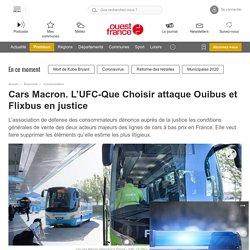 Cars Macron. L'UFC-Que Choisir attaque Ouibus et Flixbus en justice