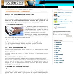 Choisir une banque en ligne : points clés