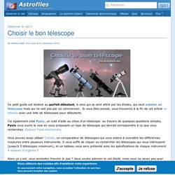 Choisir le bon télescope