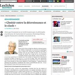 « Choisir entre la décroissance et le clash » (Dominique Bourg)