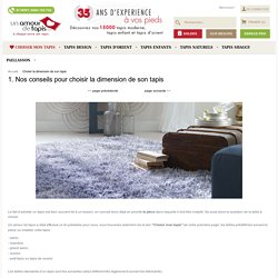 Choisir la dimension de son tapis