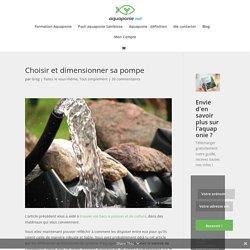 Choisir et dimensionner sa pompe pour l'aquaponie