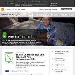 Impr.Environnement / choisir un mobile plus vert grâce à la note environnementale