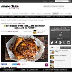 Que choisir entre l'escalope de dinde et l'escalope de poulet? - Question Cuisine et Vins de France