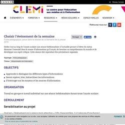 Choisir l'événement de la semaine- CLEMI