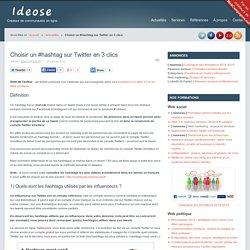 Choisir un #hashtag sur Twitter en 3 clics