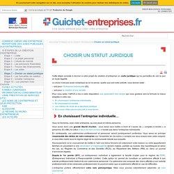 Choisir un statut juridique – Guichet Entreprises