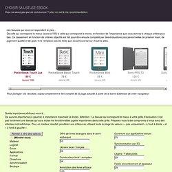 Choisir sa liseuse ebook / livre numérique