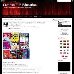 Choisir un manuel pour la classe de FLE et Méthodologies