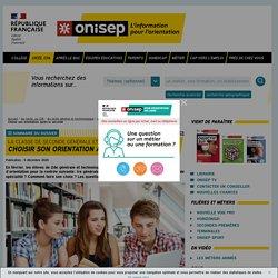 Choisir son orientation après la seconde - Onisep