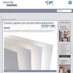 Choisir papiers et cartons d'encadrement