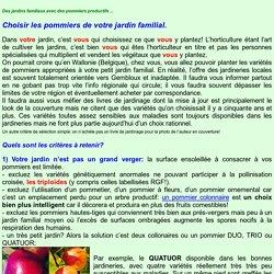 Choisir les pommiers de son jardin familial