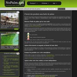 Choisir des produits sans huile de palme