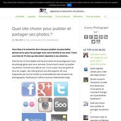 Site pour publier/partager ses photos