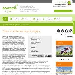 Choisir un revêtement de sol écologique