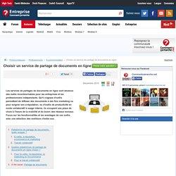 Choisir un service de partage de documents en ligne