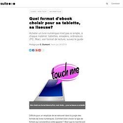 Quel format d'ebook choisir pour sa tablette, sa liseuse?