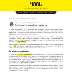 Choisir une technologie de monitoring