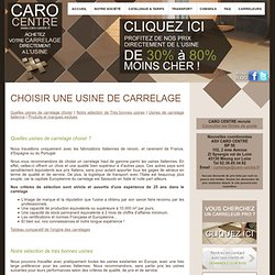 R d research design pearltrees for Usine de carrelage en france