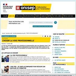 Choisir la voie professionnelle - Onisep