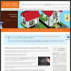 Choisir un thème pour wordpress. Créer son site internet