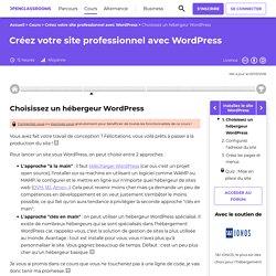 Choisissez un hébergeur WordPress - Créez votre site professionnel avec WordPress