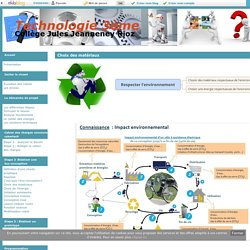 Choix des matériaux - Technologie 3ème