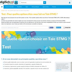 Choix option Terminale STMG - Test
