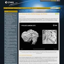 GP-Le choix du site d'atterrissage de Philae