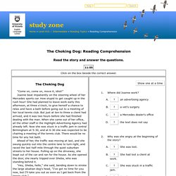 The Choking Dog: Reading Comprehension