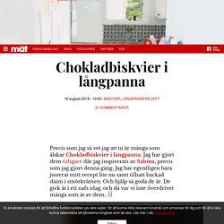 Chokladbiskvier i långpanna – Fridas Bakblogg