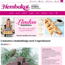 5-minuters chokladfudge med 3 ingredienser