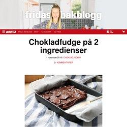 Chokladfudge på 2 ingredienser